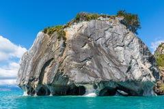 Marmorera domkyrkan av sjögeneral Carrera, Chile Royaltyfria Bilder
