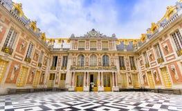 Marmorera domstolen, Cour de Marbre, den Versailles slotten Fotografering för Bildbyråer