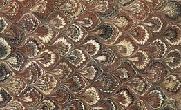 Marmorerad pappersbrunt Arkivbild
