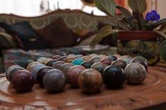 Marmorerar brädeleken Arkivfoto