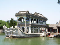 Marmorfartyg i Yi honom Yuan Arkivbilder