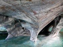 Marmorhöhlen - General Carrera See lizenzfreie stockbilder