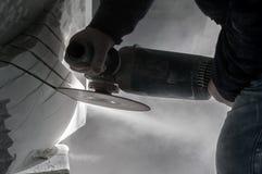 Marmorhantverkare Fotografering för Bildbyråer