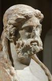 Marmorhuvud av en äldre man Royaltyfri Bild