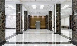 Marmorinre av en lyxig lobby av företaget eller hotellet royaltyfria bilder