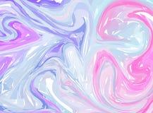 Marmorizzazione digitale blu rosa Struttura marmorizzata estratto Astrazione liquida della pittura Fondo psichedelico della magli illustrazione di stock
