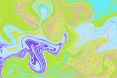 Marmorizzazione digitale viola verde Struttura marmorizzata estratto Astrazione liquida della pittura illustrazione vettoriale