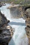 Marmorizzi il canyon alla sosta nazionale di Kootenay Fotografia Stock