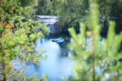 Marmorkanjon Ruskeala Royaltyfri Foto