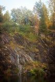 Marmorkanjon Ruskeala Royaltyfri Bild