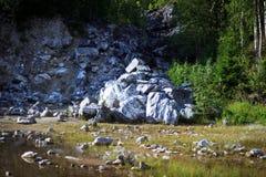 Marmorkanjon Ruskeala Royaltyfri Fotografi