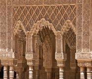 Marmorkolonnade in Alhambra Stockfotos