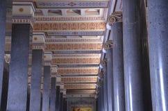 marmorkolonner i Grekland Arkivbilder