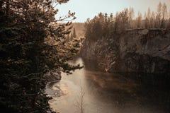 Marmorschlucht im Winter Stockbilder