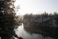 Marmorschlucht im Winter Lizenzfreie Stockfotos