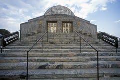 Marmorschritte führen zum Adler-Planetarium u. zum Astronomie-Museum in Chicago, Illinois Stockbilder