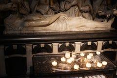 Marmorstatue der Salbung von Jesus lizenzfreie stockfotos