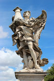 Marmorstatue des Engels vom Sant'Angelo Bridge Stockfotografie