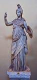 Marmorstatue von Athene Stockbild