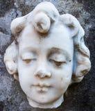 Marmorstaty - babyansikte Royaltyfria Bilder