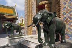 Marmorstatyer av elefanter Royaltyfria Foton