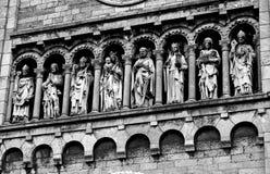 Marmorstatyer i svartvitt Royaltyfri Bild