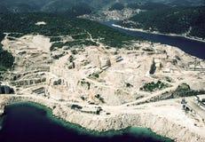 Marmorsteinbruch bei Pucisca, Brac-Insel Stockfotografie