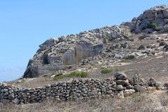 Marmorsteinbruch in Favignana, Sizilien, Italien Lizenzfreies Stockbild