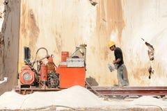 Marmorsteinbruch industriell stockfoto