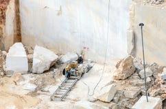 Marmorsteinbruch industriell stockbild