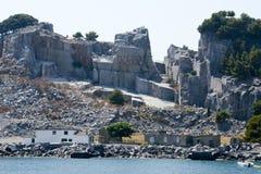 Marmorsteinbruch - Palmaria-Insel Italien Stockfoto