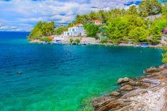 Marmorstrand in Kroatien, adriatisches Meer Stockbild