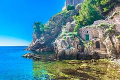 Marmorstrand in Kroatien, Dubrovnik Riviera Lizenzfreies Stockfoto