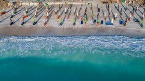 MarmorstrandSaliara strand, Thassos ö, Grekland Royaltyfri Bild