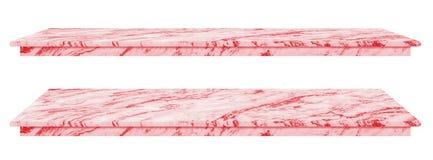 Marmortabellen, att kontra b?sta rosa yttersida, stentjock skiva f?r sk?rmprodukter som isoleras p? vit bakgrund, har den snabba  royaltyfri illustrationer