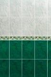 Marmortegelplattor på väggen i badrum Fotografering för Bildbyråer