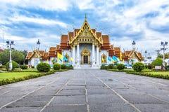 Marmortempel, Bangkok Fotografering för Bildbyråer