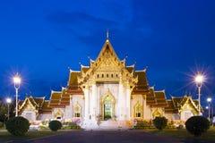 Marmortempel der berühmte Ort von Bangkok Lizenzfreies Stockfoto