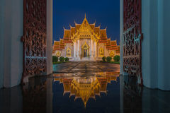 Marmortempel, Wat Benjamaborphit Stockfotos