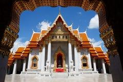 Marmortemplet eller Wat Benchamabophit, Bangkok, Thailand Arkivfoton