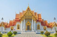 Marmortemplet, Wat Benchamabophit Dusitvanaram Bangkok arkivbild