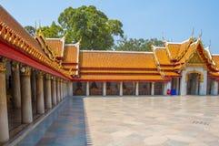 Marmortemplet, Wat Benchamabophit Dusitvanaram Bangkok royaltyfria foton