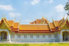 Marmortemplet, Wat Benchamabophit Dusitvanaram Bangkok arkivbilder