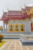Marmortemplet, Wat Benchamabophit Dusitvanaram Bangkok arkivfoton