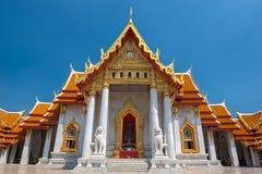 Marmortemplet, Wat Benchamabopitr Dusitvanaram Bangkok THAILAND. Arkivbild