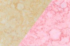 Marmortextur för två färg med ljus - brunt- och rosa färgros Royaltyfri Fotografi