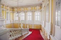 Marmortrappa i den Rundale slotten, Lettland Arkivbilder