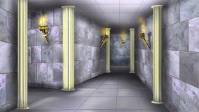 Marmorväggar av den forntida labyrinten 02 Royaltyfria Bilder