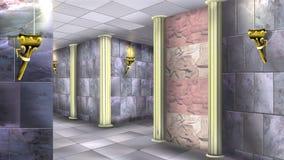 Marmorväggar av den forntida labyrinten 04 Royaltyfria Foton