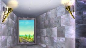 Marmorväggar av den forntida labyrinten 01 Royaltyfria Bilder